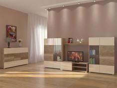 Модульная гостиная Arte крем глянец Blonski