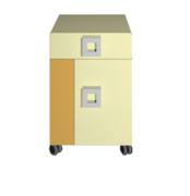 Тумба 1Д1Ш Labirynt-20 желтый Blonski