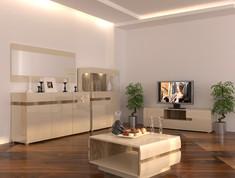 Модульная гостиная Letis ваниль Blonski