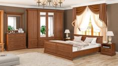 Модульная спальня Людовик Мебель Сервис