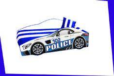 машинка с мягким спойлером и подушкой Полиция Элит Е-8 Viorina Deko 80*170