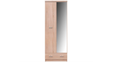 Шкаф SZF 2D1S_60 (c зеркалом) дуб сонома ТОР-МІХ VMV Holding