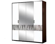 Шкаф распашной с зеркалом четырехдверный Бася Новая 4ДЗ Світ Меблів