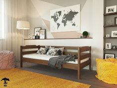 Детская кровать 90 из бука Милена Лев 90*200