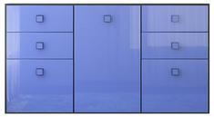 Комод 3d/4s «Аватар» синий Gerbor