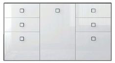 Комод 3d/4s «Аватар» белый Gerbor