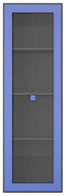 Витрина навесная 1w «Аватар» синий Gerbor