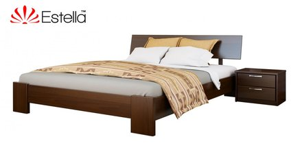 Кровать Титан массив 180*200 см бук