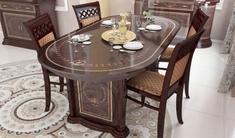 Стол столовый раздвижной комплект Чикаго Перо Рубино