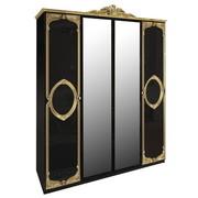 Шкаф 4 дверей комплект Реджина Black-Gold