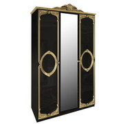 Шкаф 3 дверей комплект Реджина Black-Gold