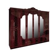 Шкаф 6д Олимпия перо рубино Миро-Марк