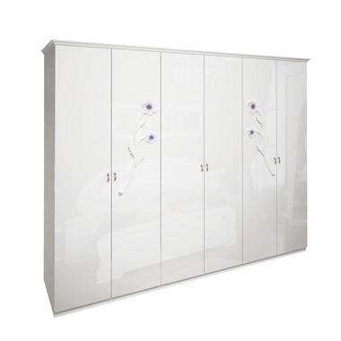 Шкаф 6 дверей без зеркал комплект Лулу Глянец Белый