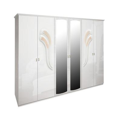 Шкаф 6 дверей комплект Лола Глянец Белый