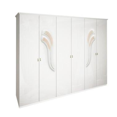 Шкаф 6 дверей без зеркал комплект Лола Глянец Белый
