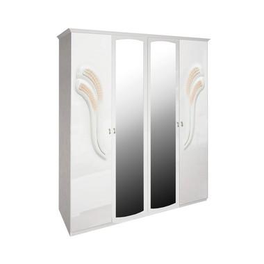 Шкаф 4 дверей комплект Лола Глянец Белый