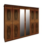 Шкаф 6 дверей комплект Примула Вишня Бюзум