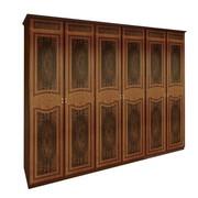 Шкаф 6 дверей без зеркал комплект Примула Вишня Бюзум