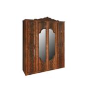 Шкаф 4Д без ящиков Олимпия перо орех Миро-Марк