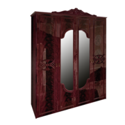 Шкаф 4Д без ящиков Олимпия перо рубино Миро-Марк