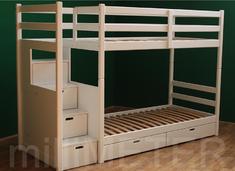 Двухъярусная кровать Рената 1 Millimeter ольха