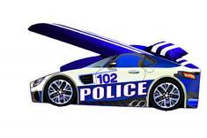 машинка с мягким спойлером и подушкой Полиция Элит Е-8 Viorina Deko 70*150