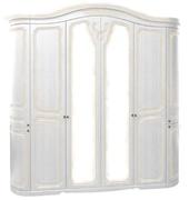 Шкаф с зеркалом шестидверный из МДФ Луиза 6Д Світ Меблів