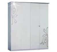 Шкаф четырехдверный из ДСП Фелиция Новая 4Д Світ Меблів