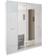 Шкаф 4Д Белла глянец белый Миро-Марк