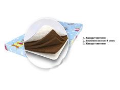 Матрас пятислойный детский Кузя с наполнителем из кокосовой койры Viorina Deko 60*120