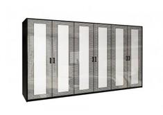 Шкаф 6Д без зеркал Виола глянец белый Миро-Марк