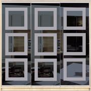 Шкаф-купе трехдверный с фасадом из тонированного зеркала с рисунком пескоструй Стандарт №2 MatroLuxe 230*45