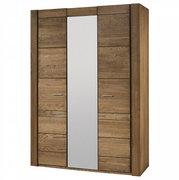 Шкаф с зеркалом распашной трехдверный с фасадом из массива дуба VELVET 73 SZYNAKA