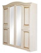 Шкаф с зеркалом четырехдверный из МДФ Николь 4Д Світ Меблів