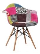 Кресло с мягкой обивкой Прайз Domini пэчворк