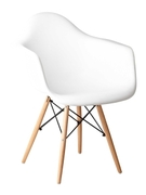 Кресло из пластика Прайз Domini белый
