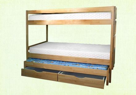 Кровать Трио 90*200 см бук