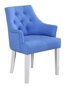 Кресло из натурального дерева с подлокотниками и мягкой обивкой Тиффани Domini