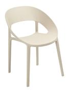 Кресло из пластика Шелл Domini бежевый