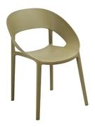 Кресло из пластика Шелл Domini зеленый чай