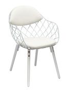 Кресло с металлическим каркасом и мягкой обивкой Вики Domini белый
