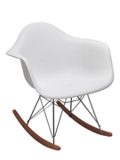 Кресло-качалка из пластика Лаунж Domini белый