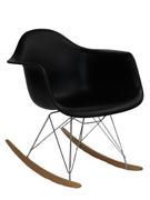 Кресло-качалка из пластика Лаунж Domini черный