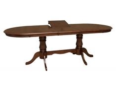 Стол обеденный раскладной 2,0 из натурального дерева Анжелика V Domini каштан