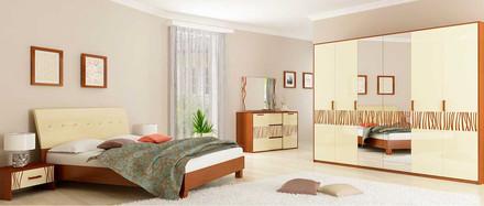 Спальная комната Терра ваниль-вишня бюзум Миро-Марк