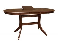 Стол обеденный раскладной из натурального дерева Лайза W Domini каштан