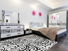 Спальня Терра Глянец белый - черный мат