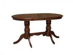 Стол обеденный раскладной 1,5 из натурального дерева Анжелика V Domini каштан