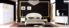 Спальня Пиония глянец белый Миро-Марк