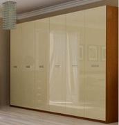 Шкаф 6Д без зеркал Белла глянец ваниль Миро-Марк